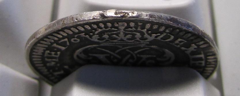 1 real de 1707. Felipe V ceca Ingenio de Segovia. 313mvpy