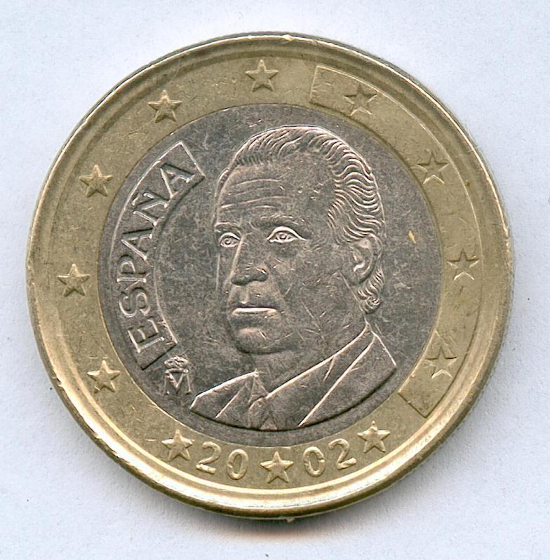 * ERROR * 1 EURO ESPAÑA AÑO 2002 CON DOBLE LISTEL 33y2k1s
