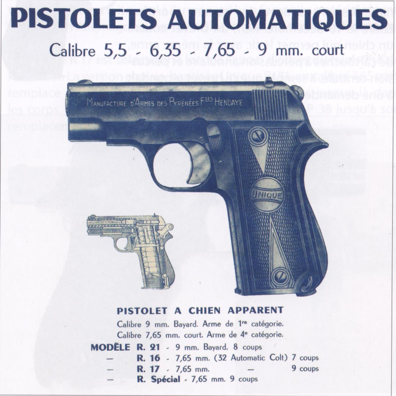 pistolet Unique modèle inconnu 34q5vh5