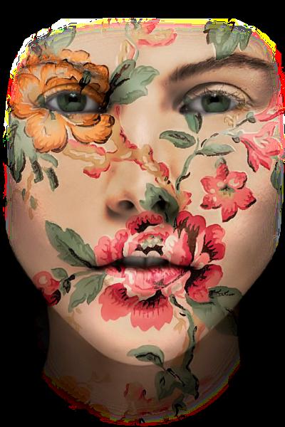 Caras de mujer hechas con flores 34rbmt3