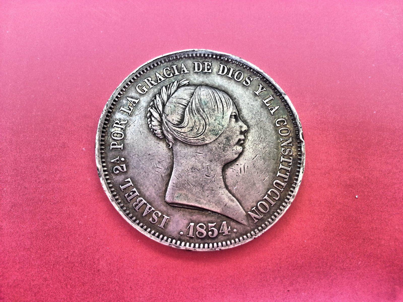20 Reales Isabel II 1854 Madrid 35k7n5u