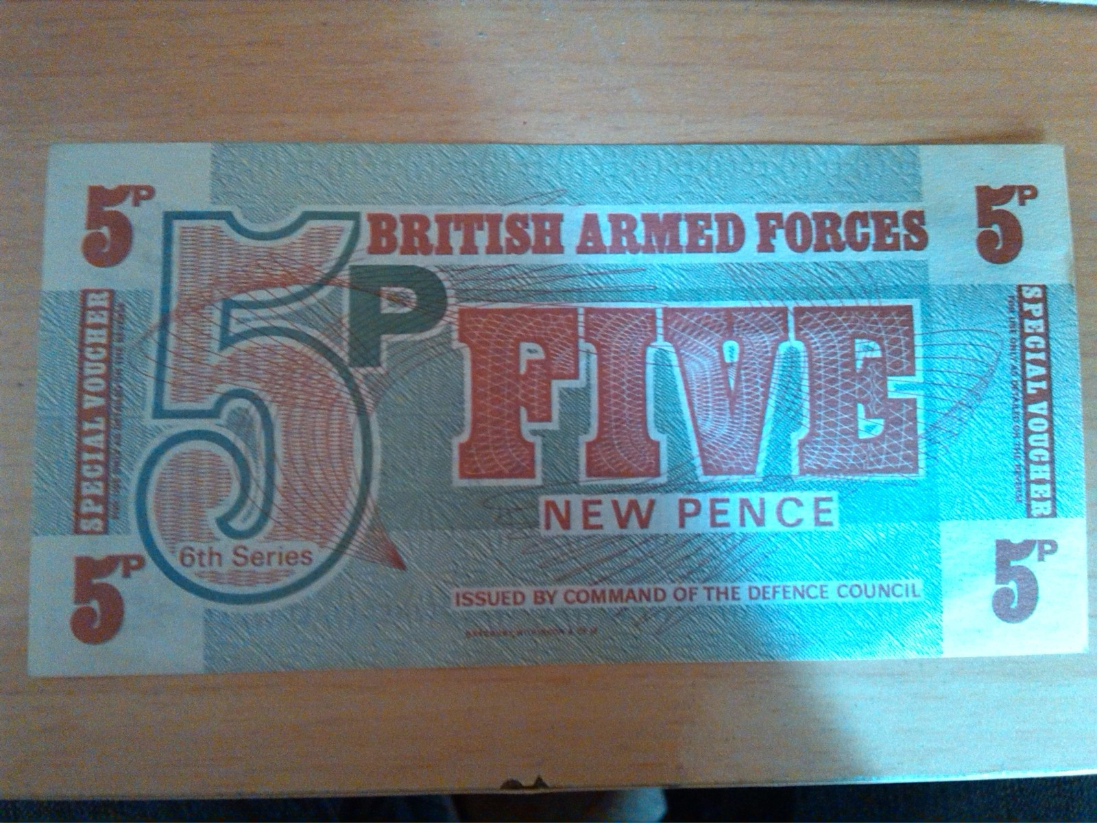 billete 5p british armed forces five new pence 55rywp