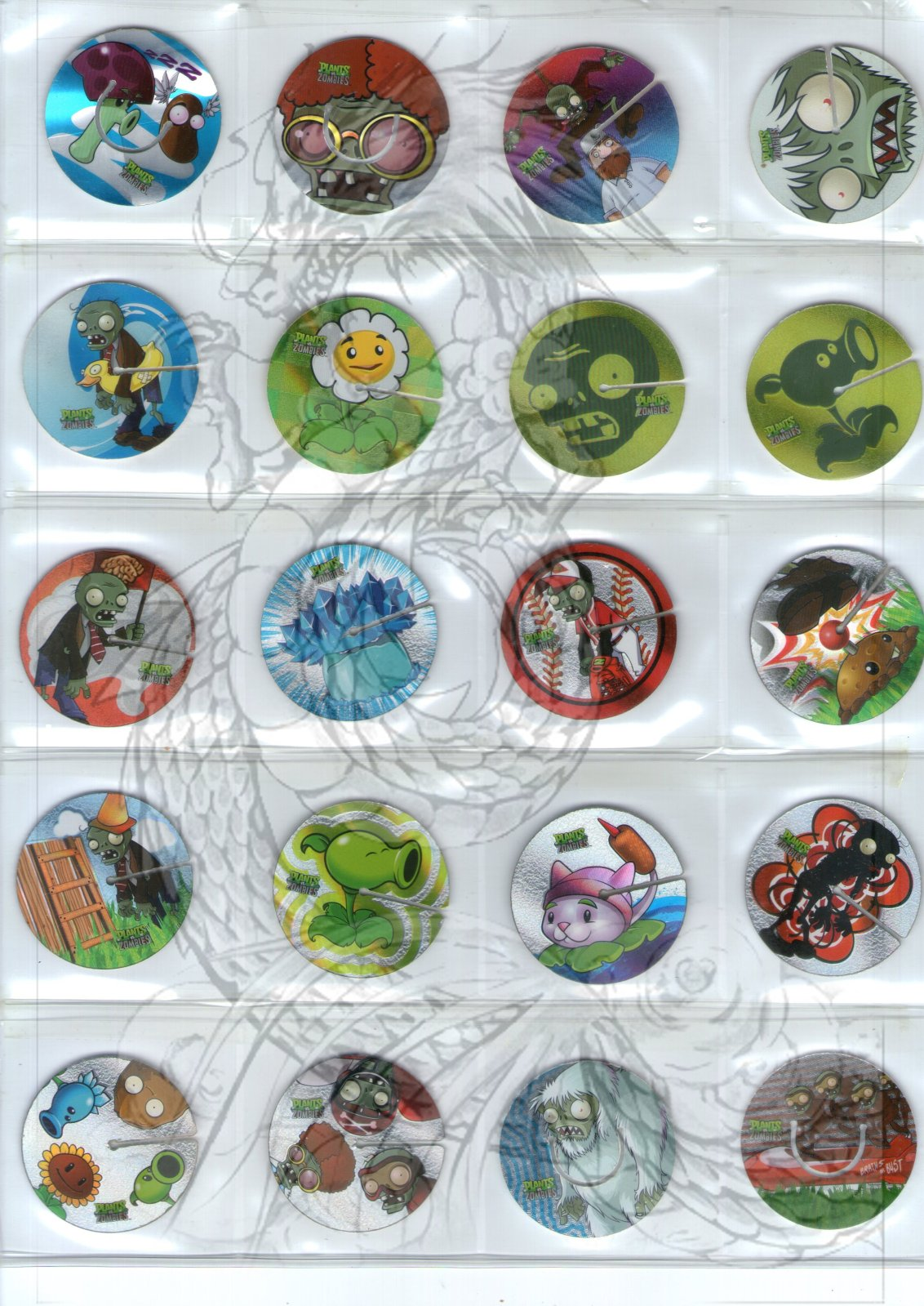 Tazos Plantas Vs Zombies de SABRITAS 6941i0