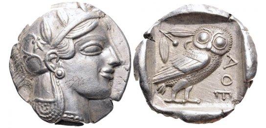 Tetradracma ático. Atenas. 449-413 a.C. 9zr7m1