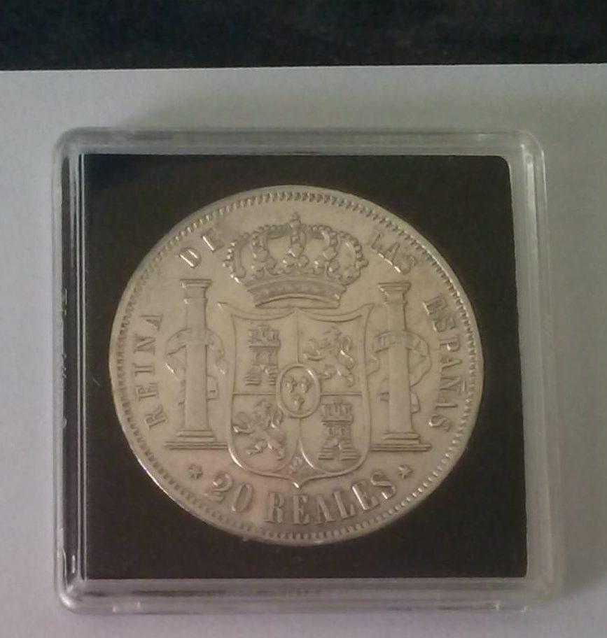 20 Reales de Isabel II de Madrid de 1861 A9s2e