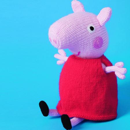 Peppa Pig pattern knit :) E0len6