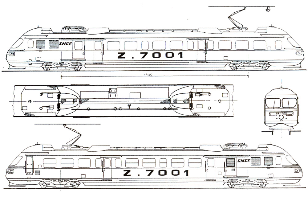 autorail Z 7001 ZEBULON E6rerl
