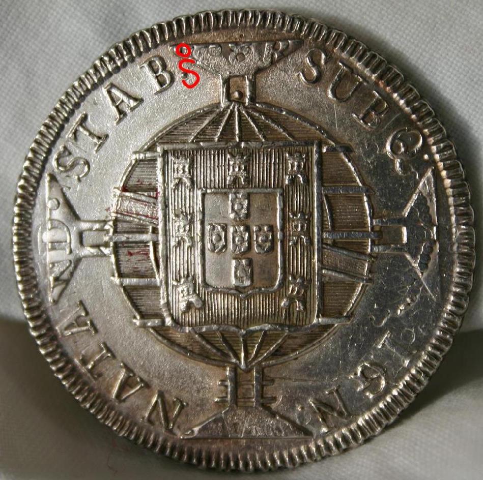 960 Reis 1819 brasileños acuñados sobre 8 Reales 1813 de Fernando VII - Página 2 J088io