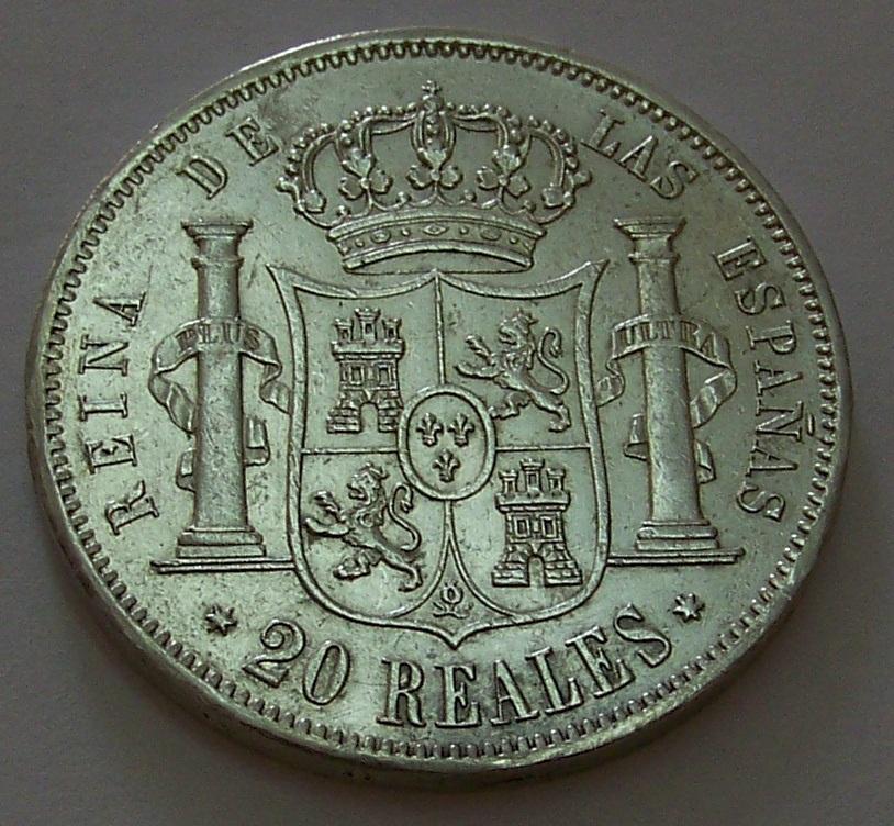 20 Reales de Isabel II de Madrid de 1861 J7g87r