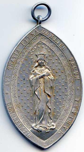 Medalla Congregación Mariana  Jkdjte