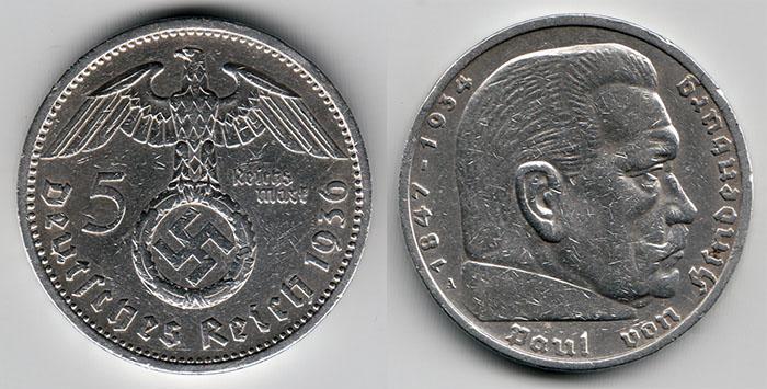 Colección de monedas del III Reich Alemán Nlwr4p