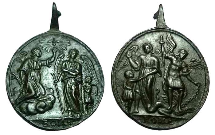 Arcángel Gabriel y Rafael / Angel de la Guarda y S. Miguel arcángel, (R.M. SXVIII-C100)  Ot2h3p