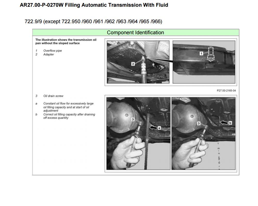 Troca Óleo transmissão 722.9xx e Conversor de torque - diferenças componentes câmbio 7G-Tronic Plus U8x0n