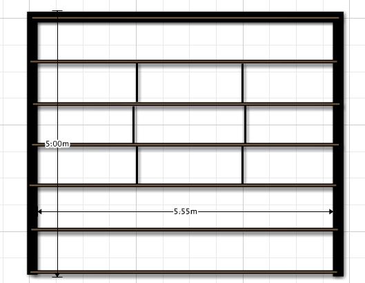 techo - Estructura de Perfiles C para techo de chapa W7o8dc