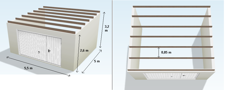 techo - Estructura de Perfiles C para techo de chapa Why3hy