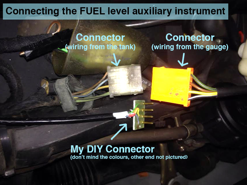installing additional instruments (temperature and fuel gauge) - work completed Xgd0et