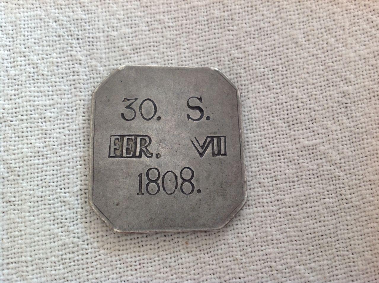 30 sous 1808 ( octogonal) Fernando VII Palma de Mallorca 10fdkiv