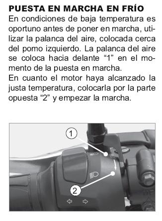 Posición del starter/ahogador: error en el manual de usuario. 14t3keb