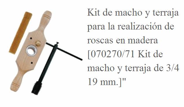 Tuercas y tornillos con rosca de madera 1584mfp