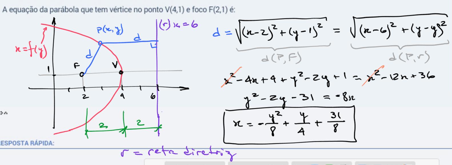 Equação da parábola 15s91rs