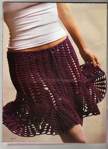 CROCHET - Busco patrón falda calada a crochet. 19qkir