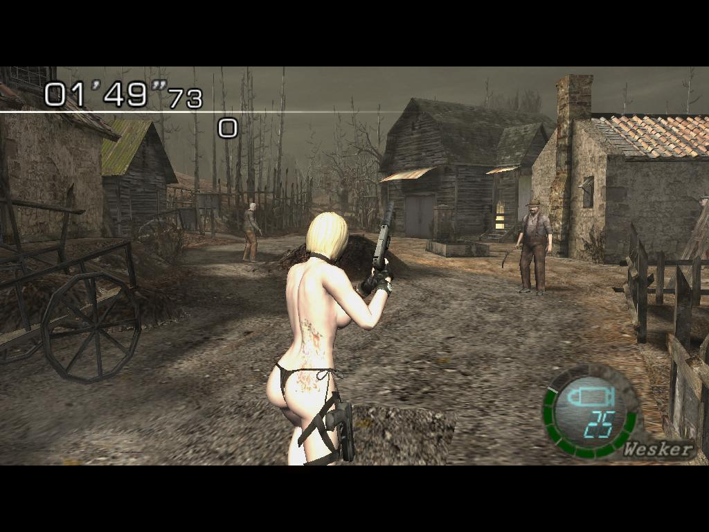 18+ Jill Bikini Topless to Wesker (Mercenaries) 21bkt9f
