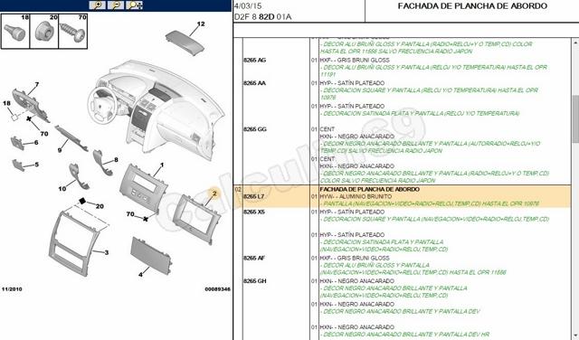 Recambio original Citroen/Peugeot al mejor precio 21boyvt