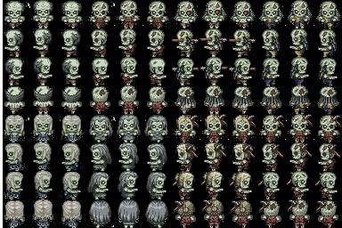 Varios Charas de Zombies 243lz6a
