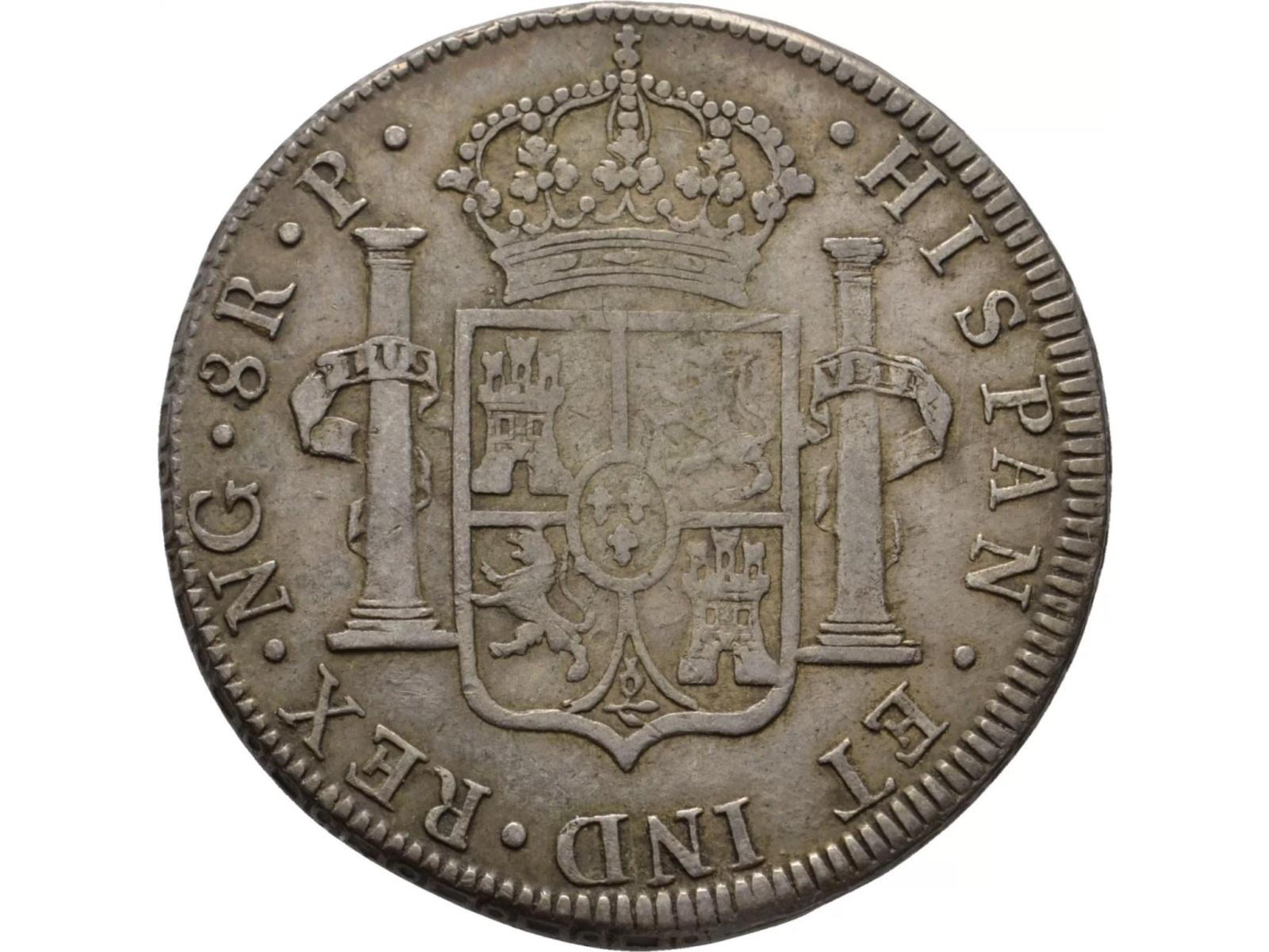 1777 Guatemala 8 reales. Carlos III 25jwprb