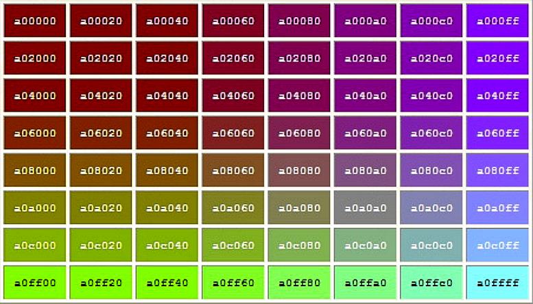 أكواد الألوان.. اختر اللون وانسخ الكود..(02) 25ztkc1