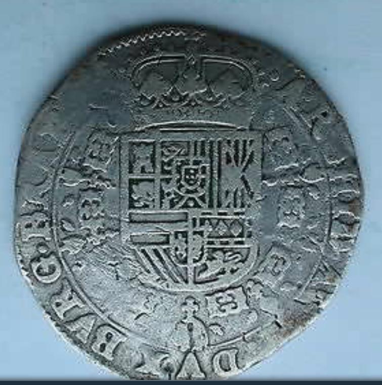 1 patagón 1638. Felipe IV. Amberes 28qufc2