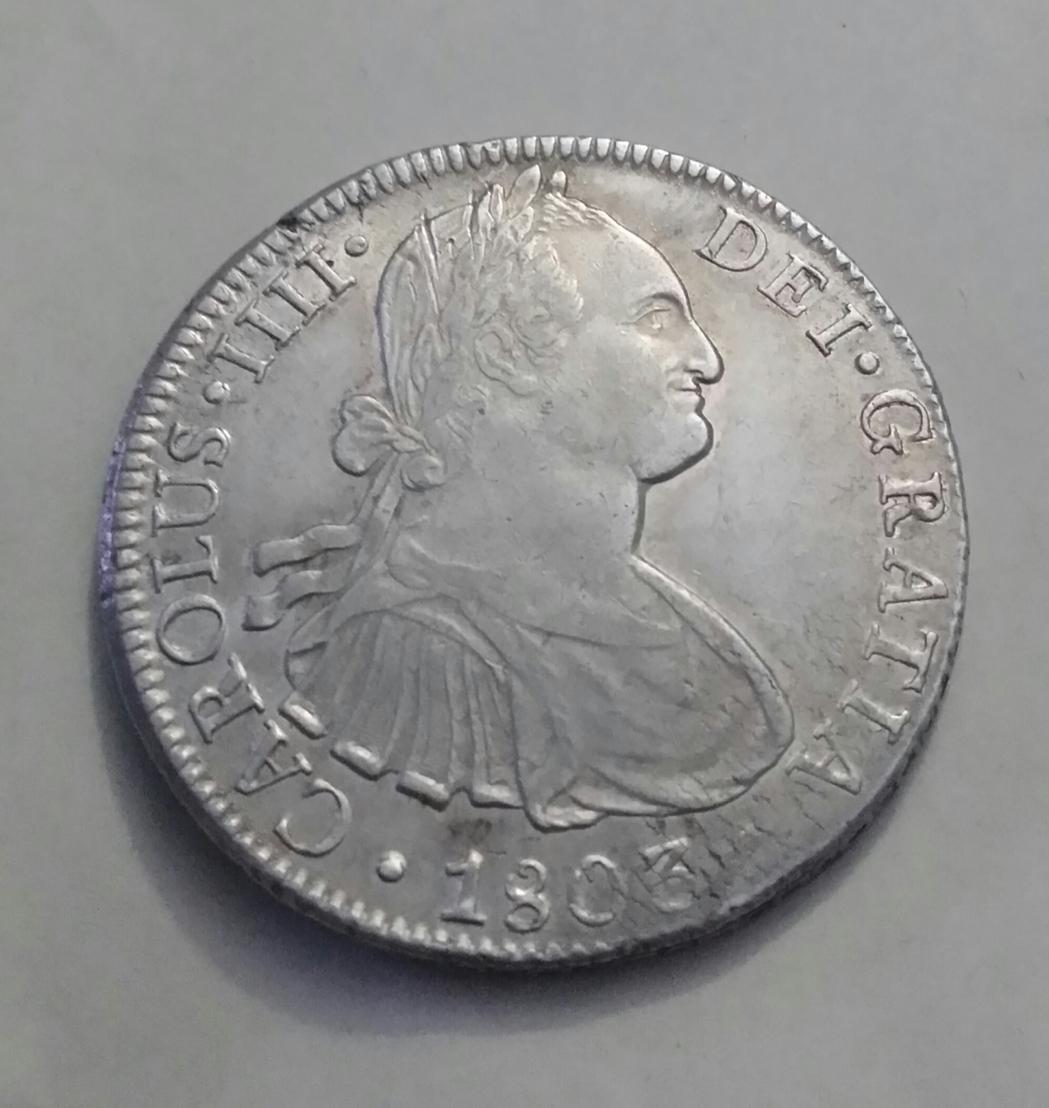 8 Reales Carolus IIII 1803 México FT 29l001x