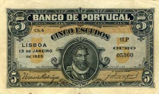 Portugal 5 escudos 1925 2igf8ro