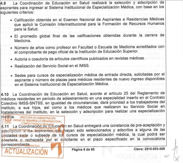 CRITERIOS DE SELECCIÓN IMSS - FUENTE FIDEDIGNA 2l5yr