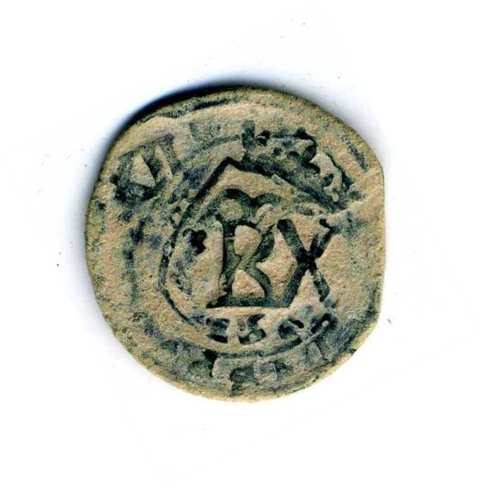 8 Maravedis de Felipe III Segovia 1604 con una reacuñación del anagrama. 2lbgsc4