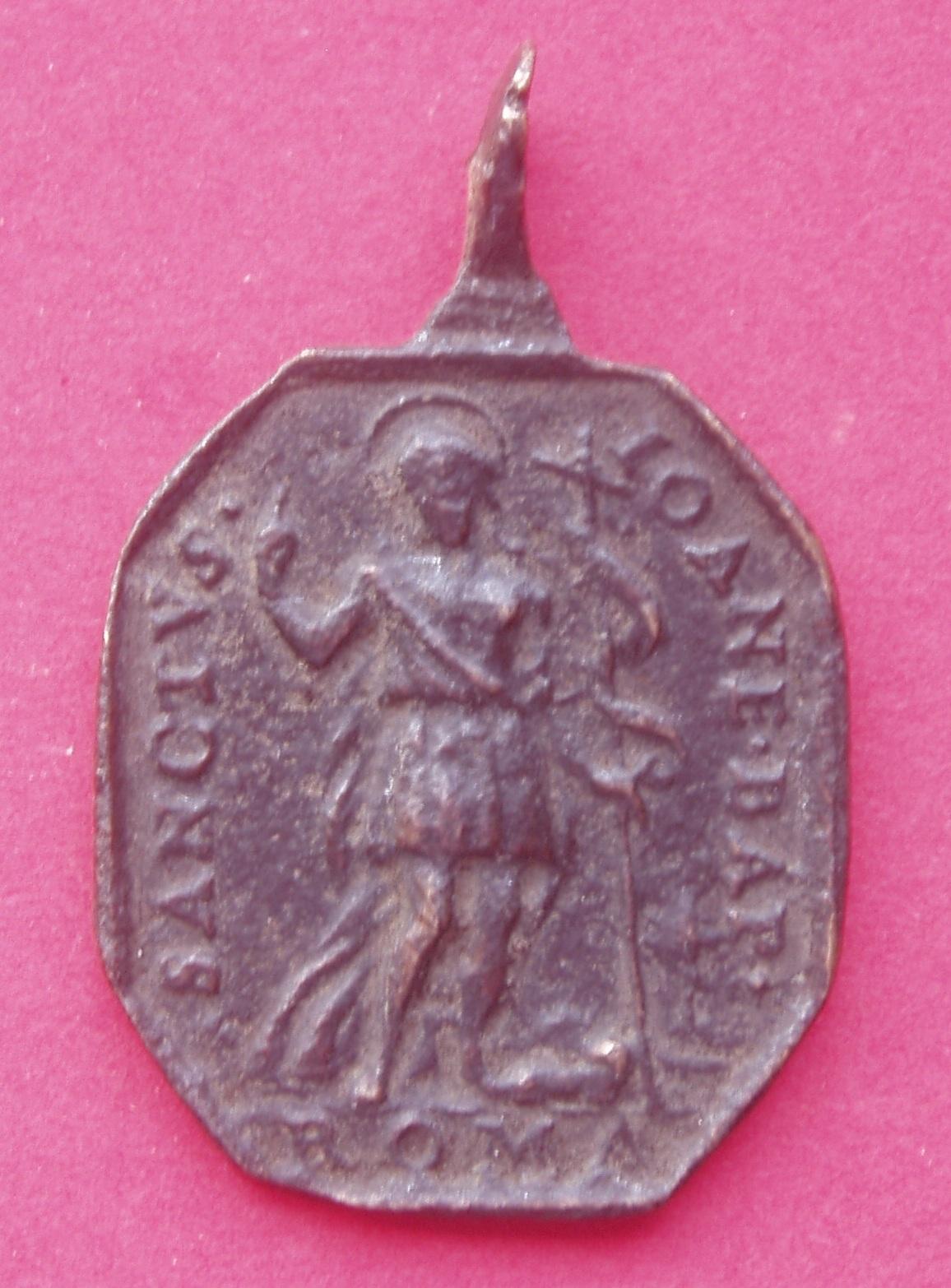 Medalla de Santa María y San Juan Bautista. 2m35o2u