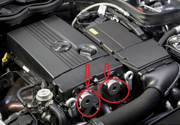 (W203): Vazamento de óleo - eletroimãs/sensor de avanço 2mw85ki
