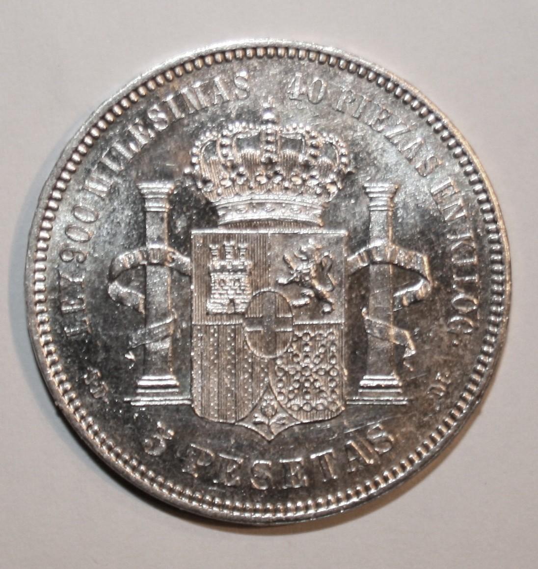 5 Pesetas 1871*71 Amadeo I 2nbhqfr
