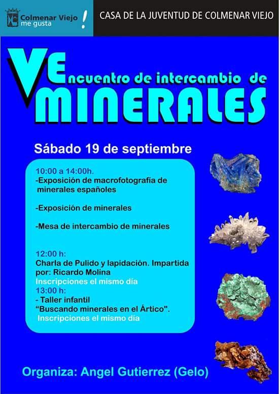 V Encuentro Intercambio de Minerales de Colmenar Viejo (Madrid). 19 Septiembre de 2015 2u9n1qo