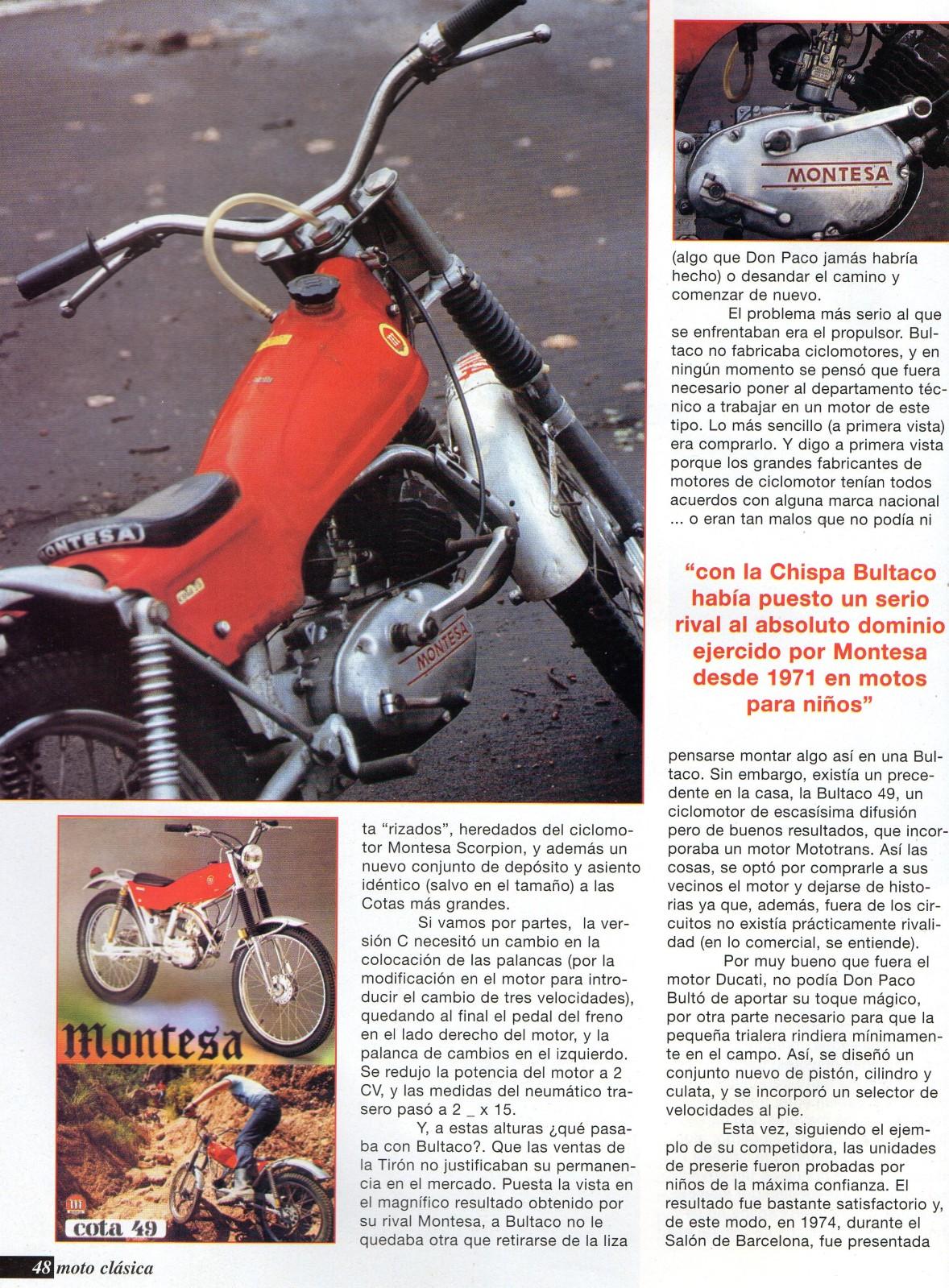 Comparativa Cota 25 con Bultaco chispa 2w3nyud