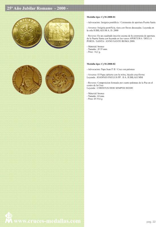 jubilares - Recopilación de medallas con fecha inscrita de los Años Jubilares Romanos  2wdygjt