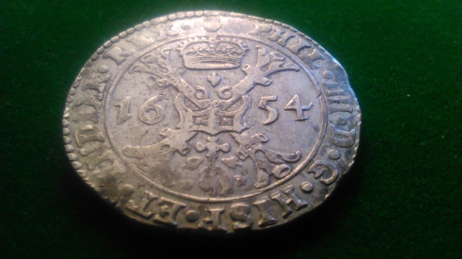 1 Patagón. Felipe IV 1654 Amberes. Dedicada a Lanzarote 30kujxs