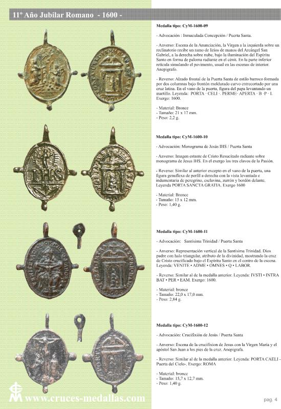 jubilares - Recopilación de medallas con fecha inscrita de los Años Jubilares Romanos  312ia2u