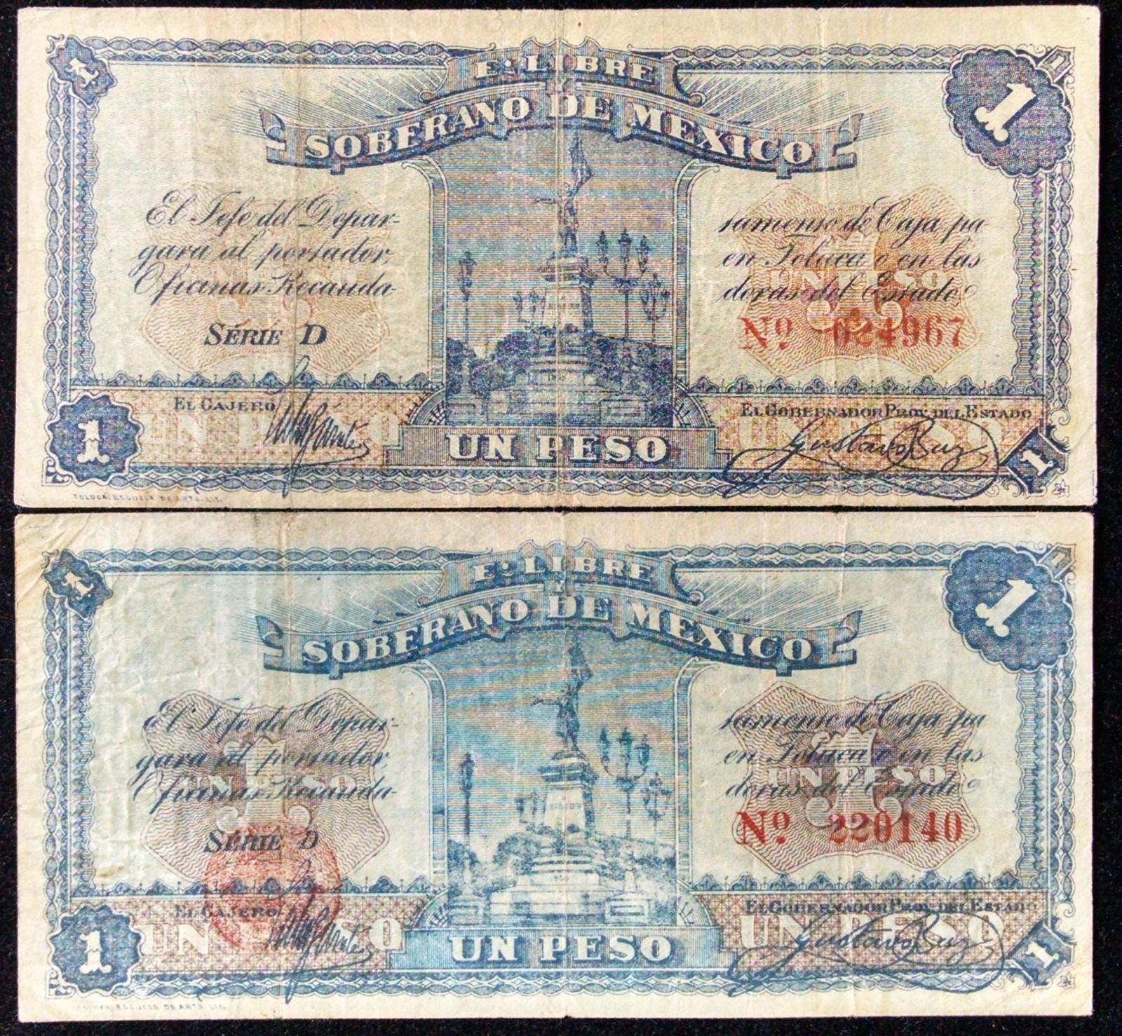 1 peso 1915 Mexico 33ww3np