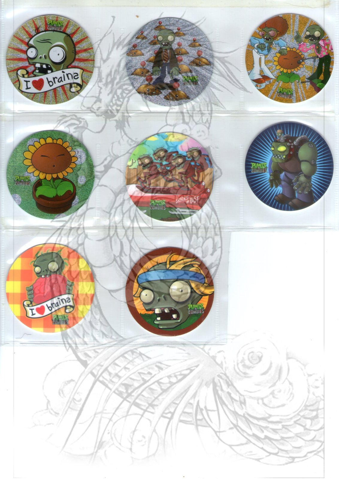 Tazos Plantas Vs Zombies de SABRITAS 34obodx