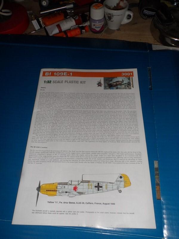 Me Bf 109E-1 Eduard Profipack 1/32ème 4vn48p