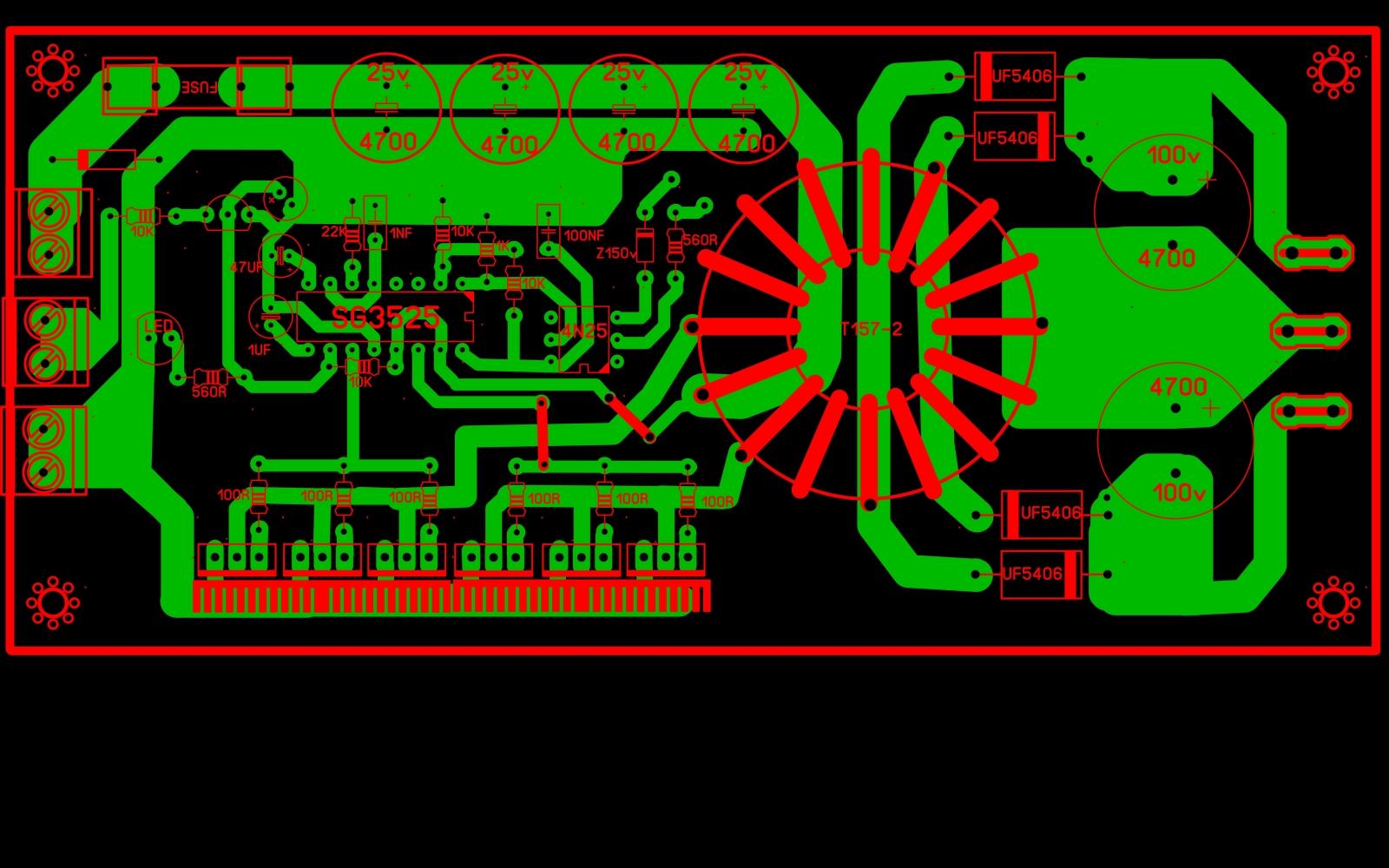 inversor de voltagem 12V para 110V ou 220V 5a4c2w
