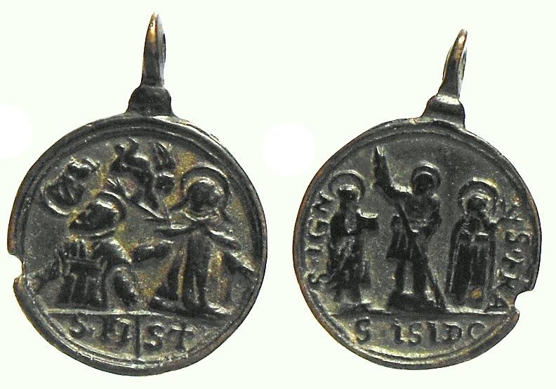 Sta. Teresa, S. Felipe Neri /S. Ignacio Loyola, S. Isidro Labrador, S. Francisco Javier (R.M.SXVII-C62)  5ahsoi
