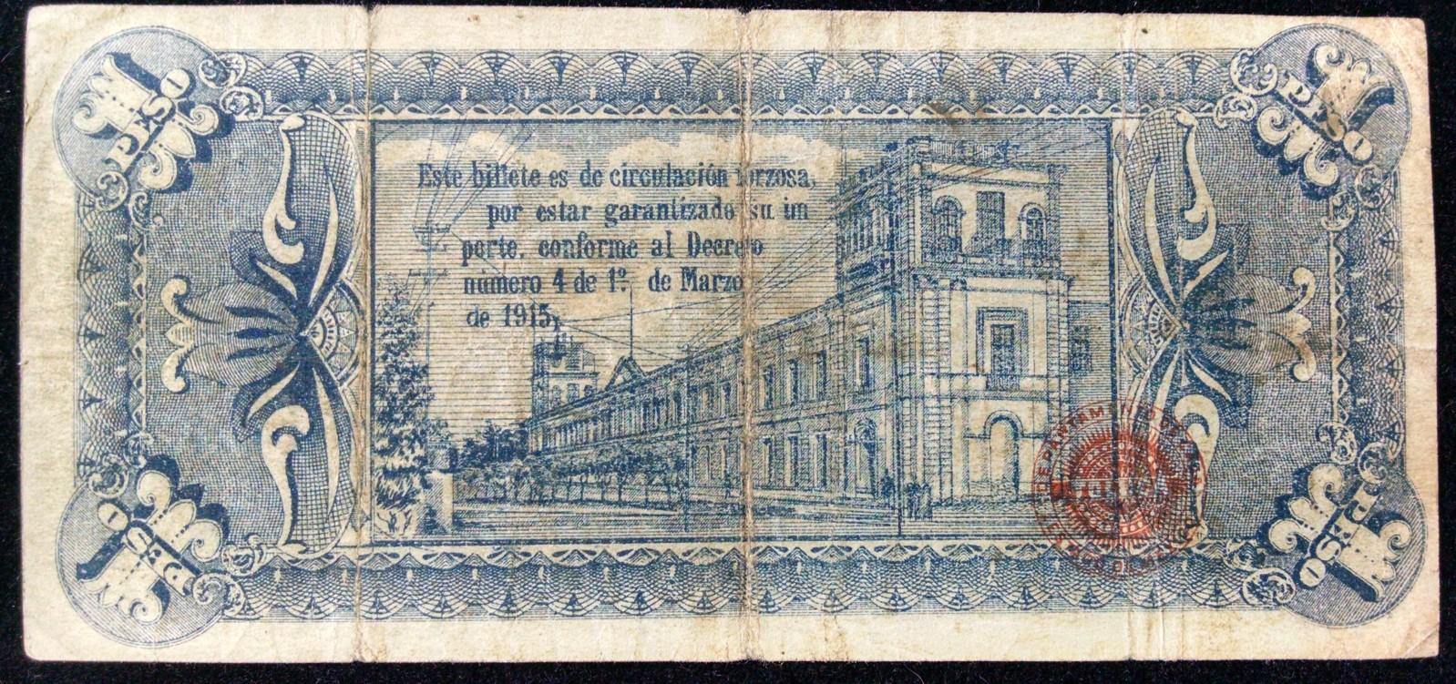 1 peso 1915 Mexico 5x7vq0