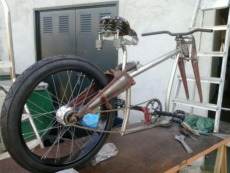 Bicicleta eléctrica a partir de moto Guzzi (+sidecar??) 70cbhh